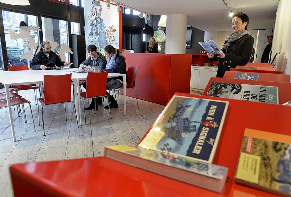 Venez nous rendre visite dans notre Espace lecteurs, boulevard de Pérolles 42 à Fribourg. © Vincent Murith/La Liberté