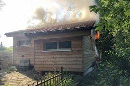 Incendie d'un chalet de vacances à Hauteville