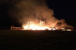 Une entreprise de construction bois en feu à Siviriez