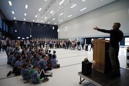 Inauguration de l'école du Platy