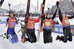 Le relais féminin suisse se hisse encore une fois sur le podium
