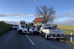 Trois blessés dans un accident à Prez-vers-Noréaz