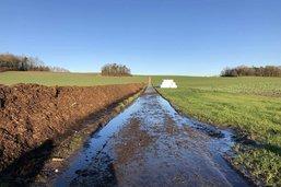 Un ruisseau a été pollué à Châbles