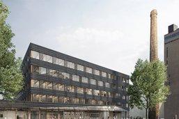 Premier bâtiment pérenne de Bluefactory à l'enquête à Fribourg