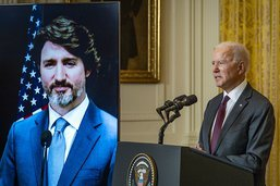 """Biden et Trudeau affichent une """"extraordinaire amitié"""""""