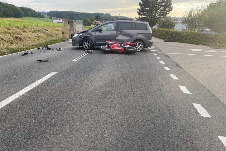 Un motard blessé à Siviriez