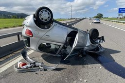 Conductrice blessée dans un accident sur l'A12