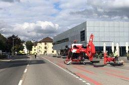 Un motocycliste blessé à Romont